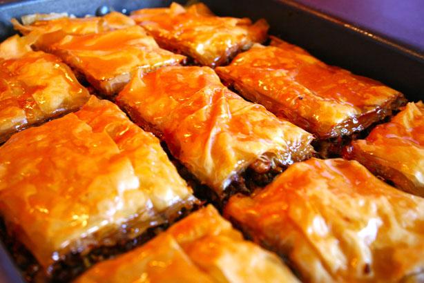 Baklavas freshly baked