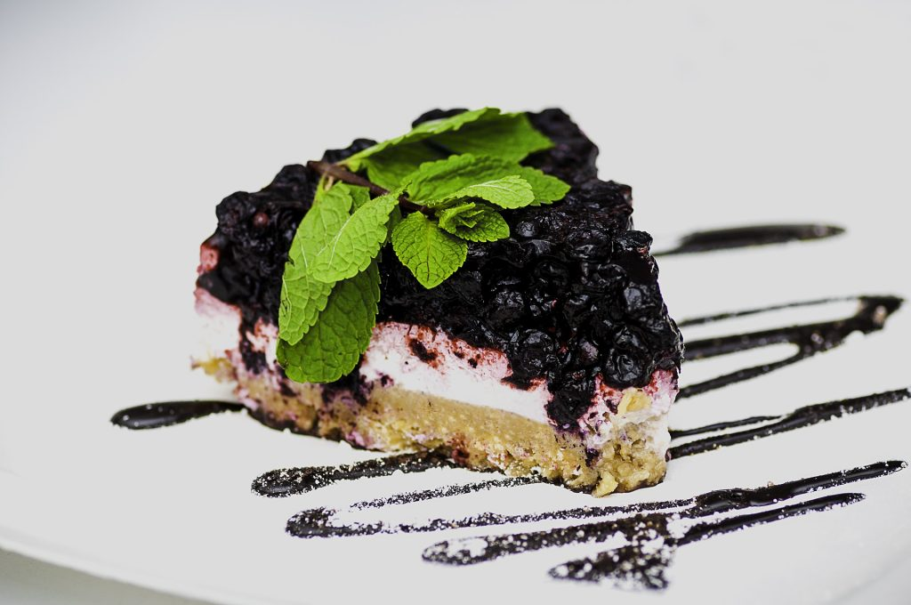 Keto, Paleo Blueberry Cheesecake