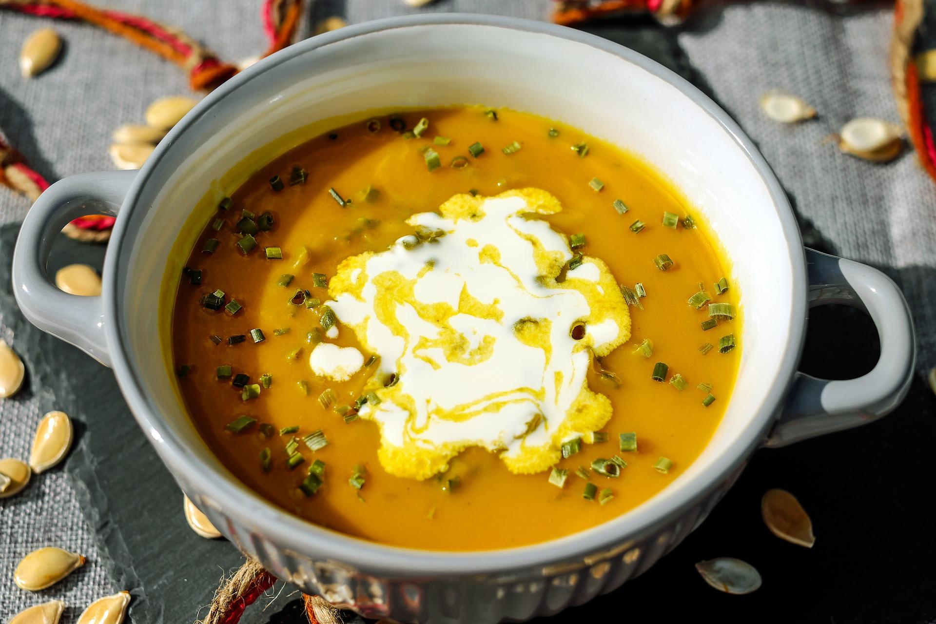keto, paleo pumpkin soup