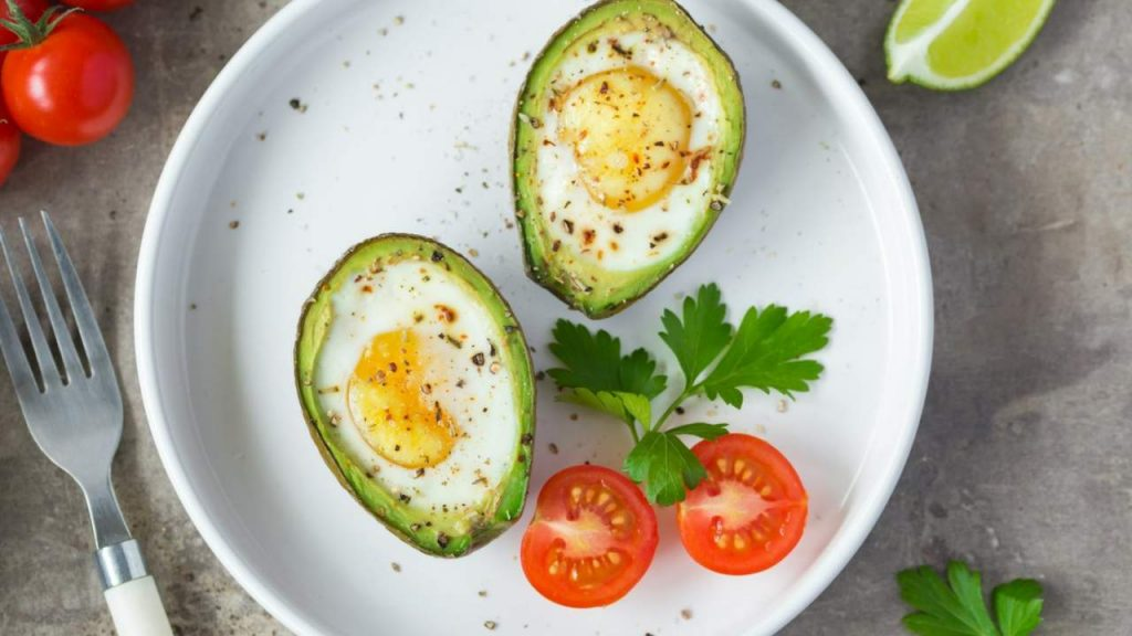 Keto Paleo Baked-In Avocado Eggs
